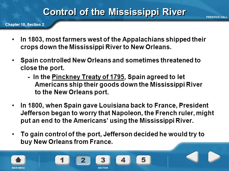 Control of the Mississippi River