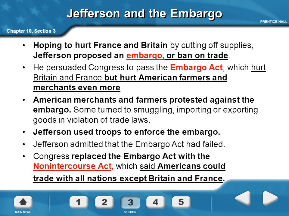 Jefferson and the Embargo