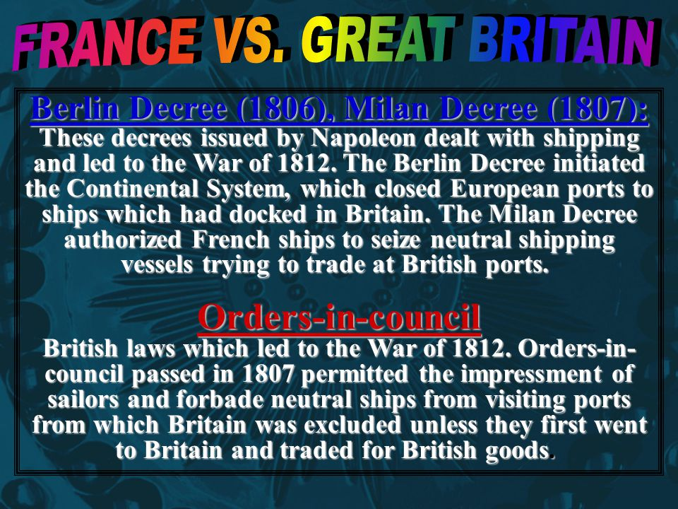 FRANCE VS. GREAT BRITAIN