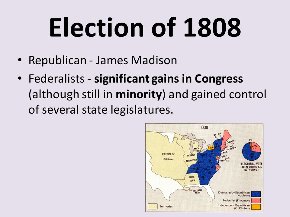 Election of 1808 Republican - James Madison