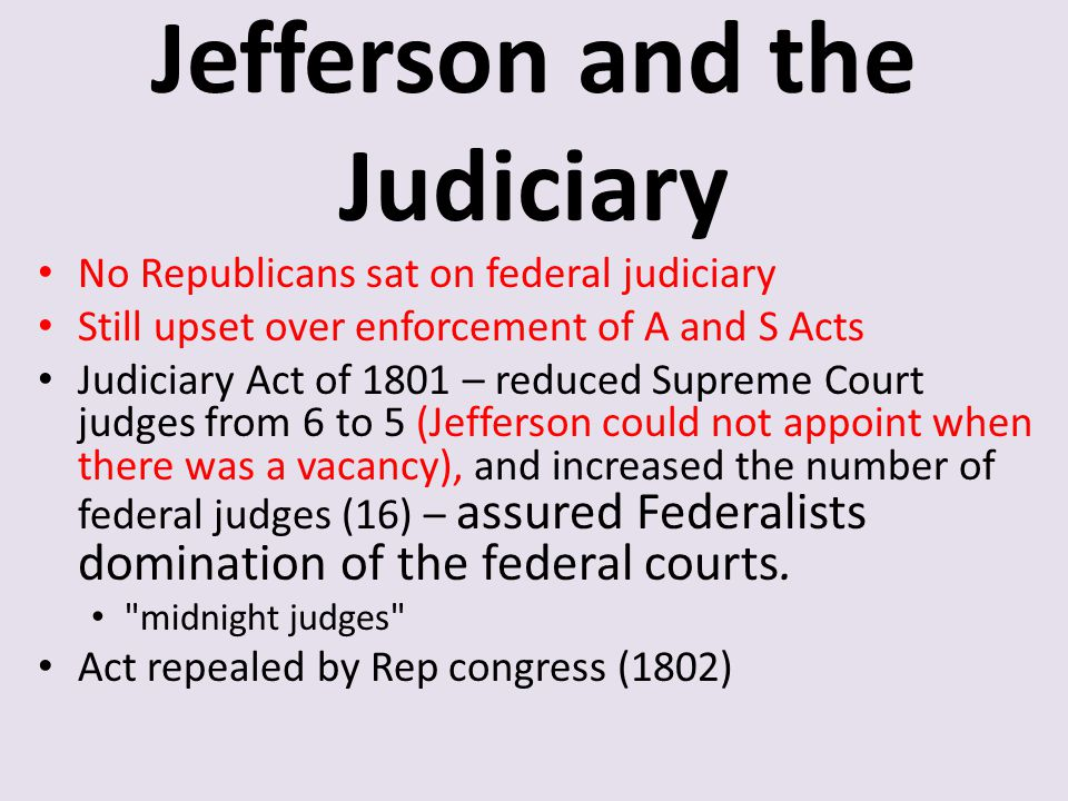 Jefferson and the Judiciary