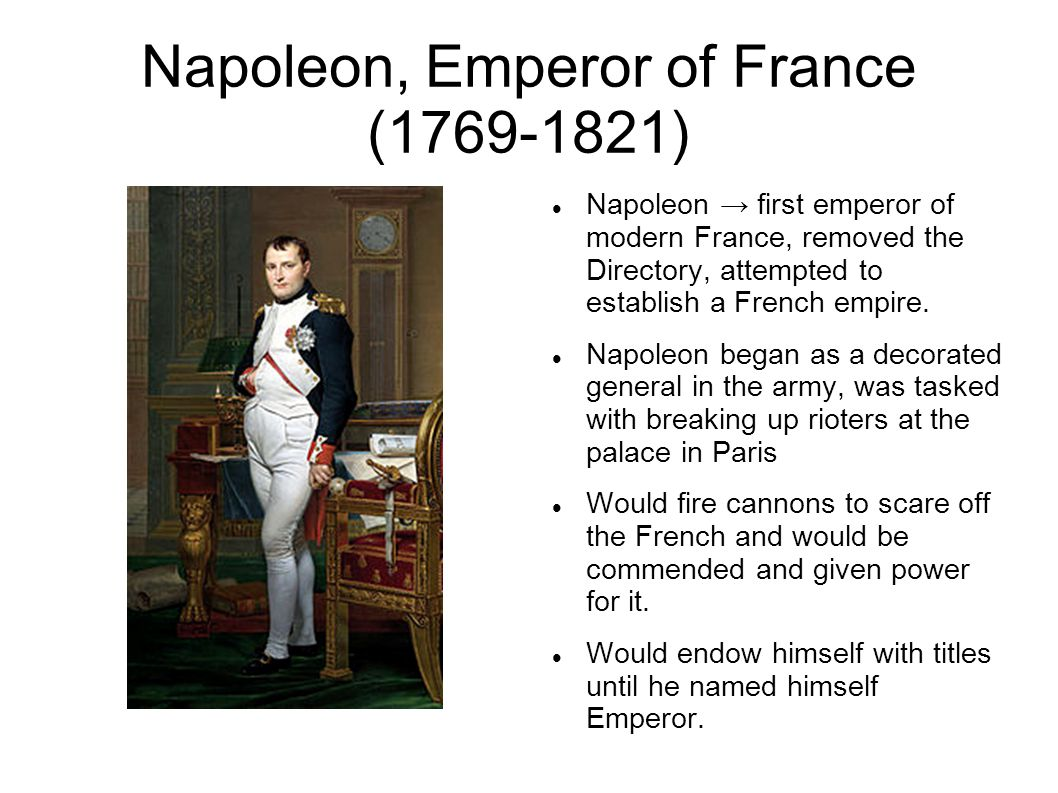 Napoleon, Emperor of France (1769-1821)