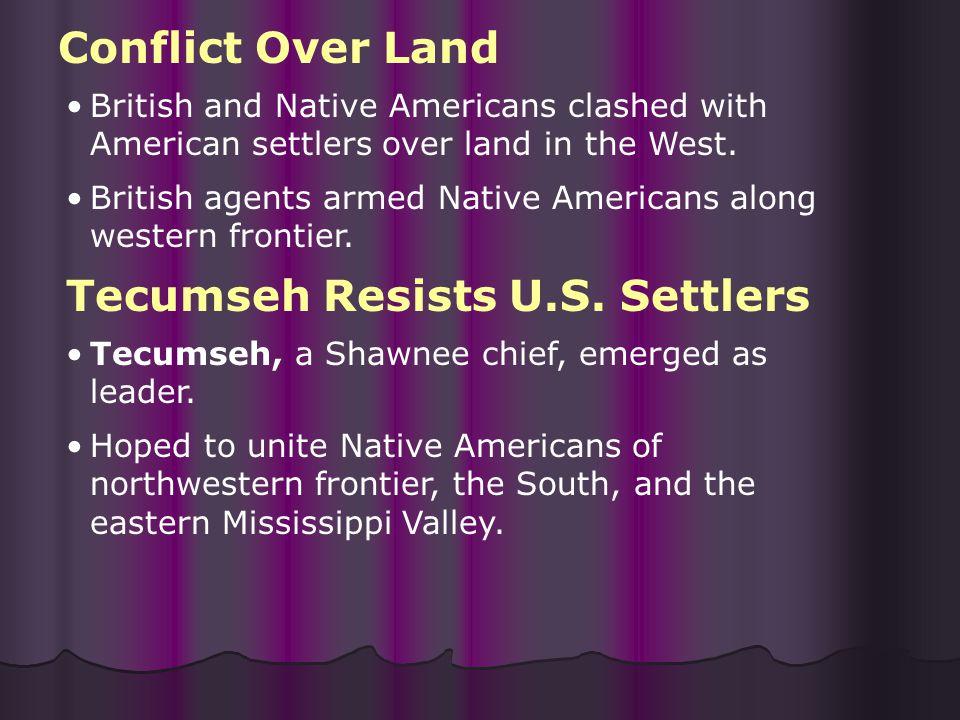 Tecumseh Resists U.S. Settlers