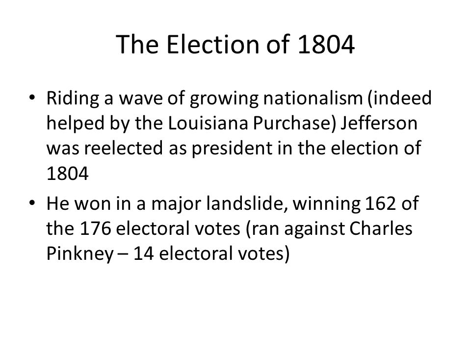 The Election of 1804