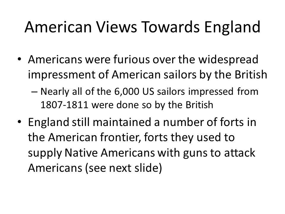 American Views Towards England