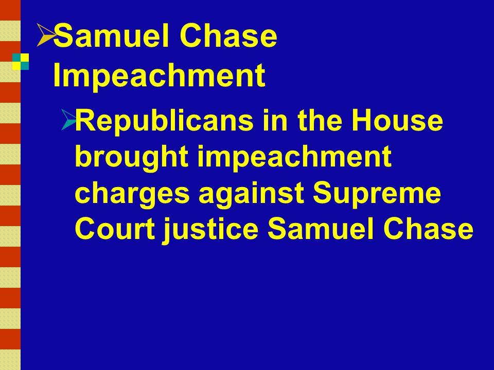 Samuel Chase Impeachment
