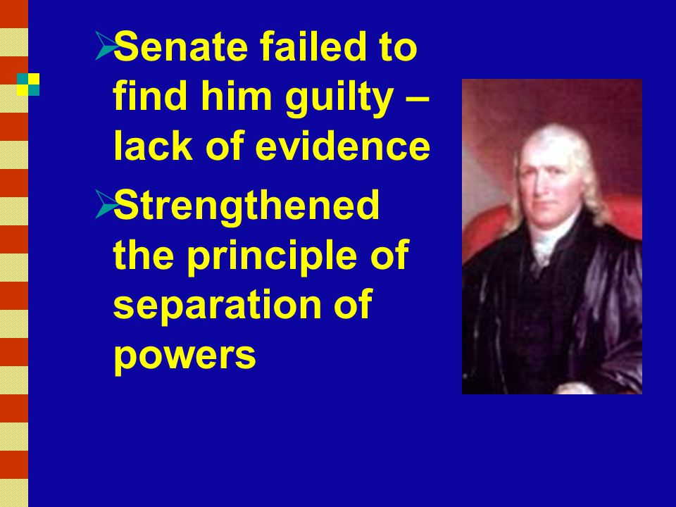 Senate failed to find him guilty – lack of evidence