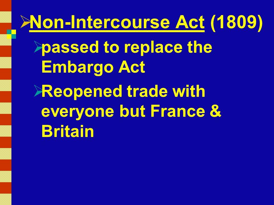 Non-Intercourse Act (1809)