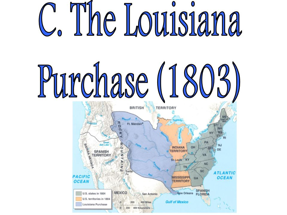 C. The Louisiana Purchase (1803)