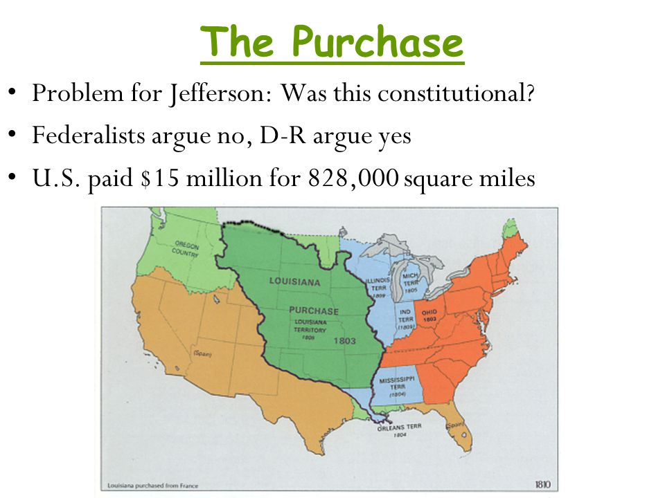 The Purchase Problem for Jefferson: Was this constitutional