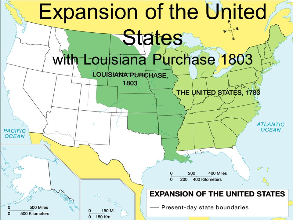 Expansion of the United States with Louisiana Purchase 1803