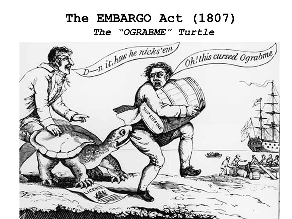 The EMBARGO Act (1807) The OGRABME Turtle