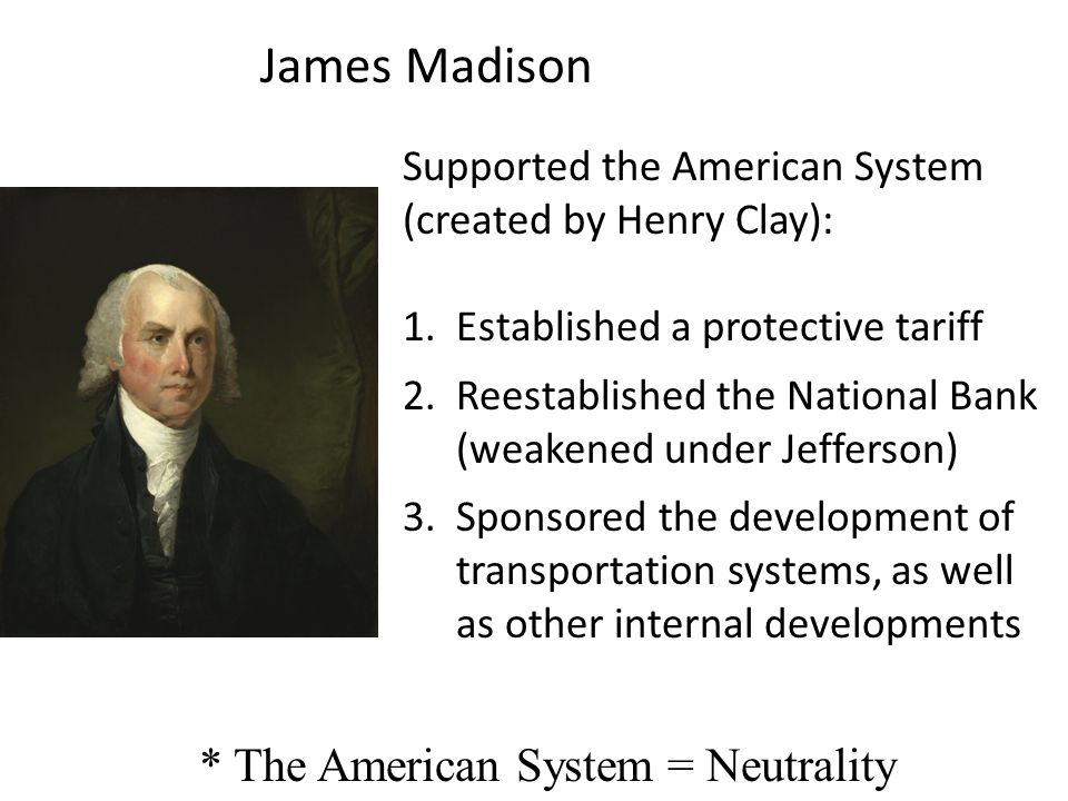 * The American System = Neutrality