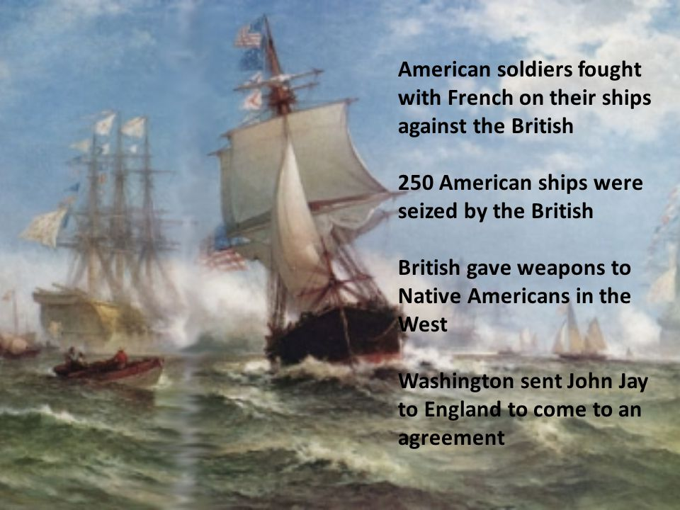 American soldiers fought with French on their ships against the British