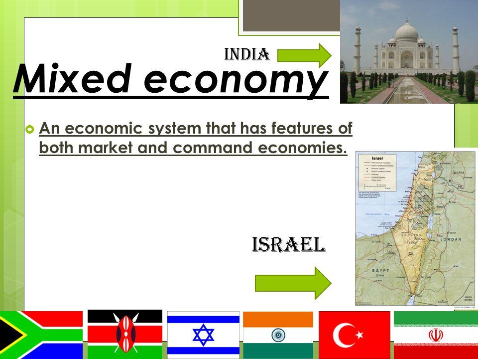 Mixed economy Israel India