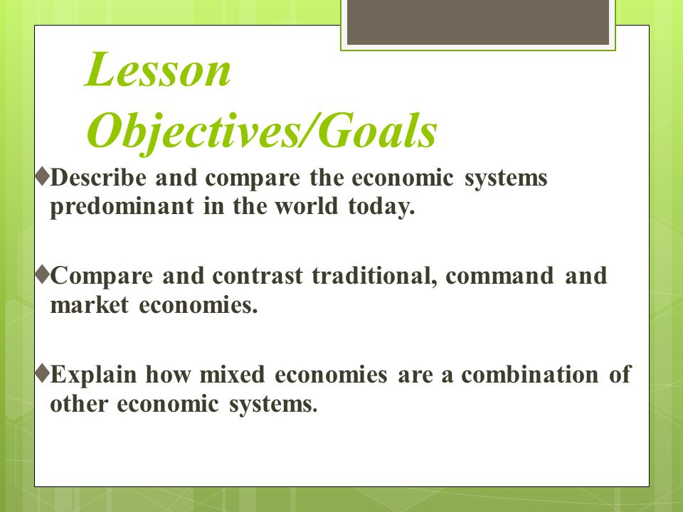 Lesson Objectives/Goals
