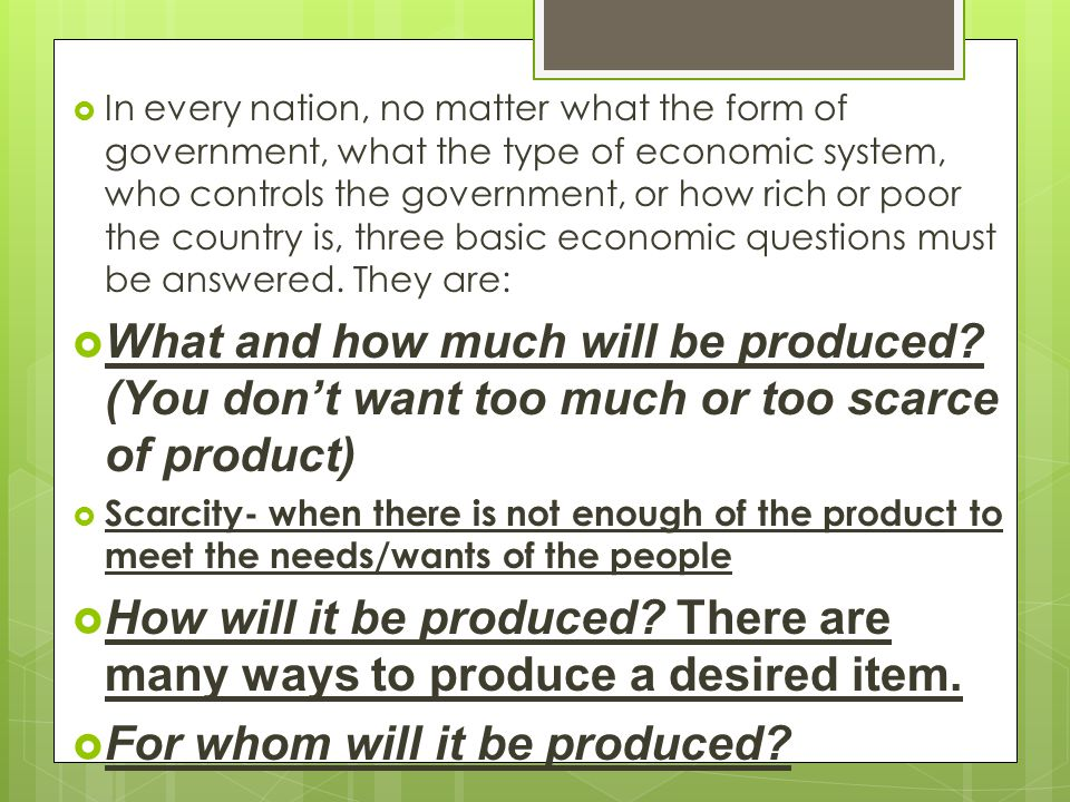 For whom will it be produced