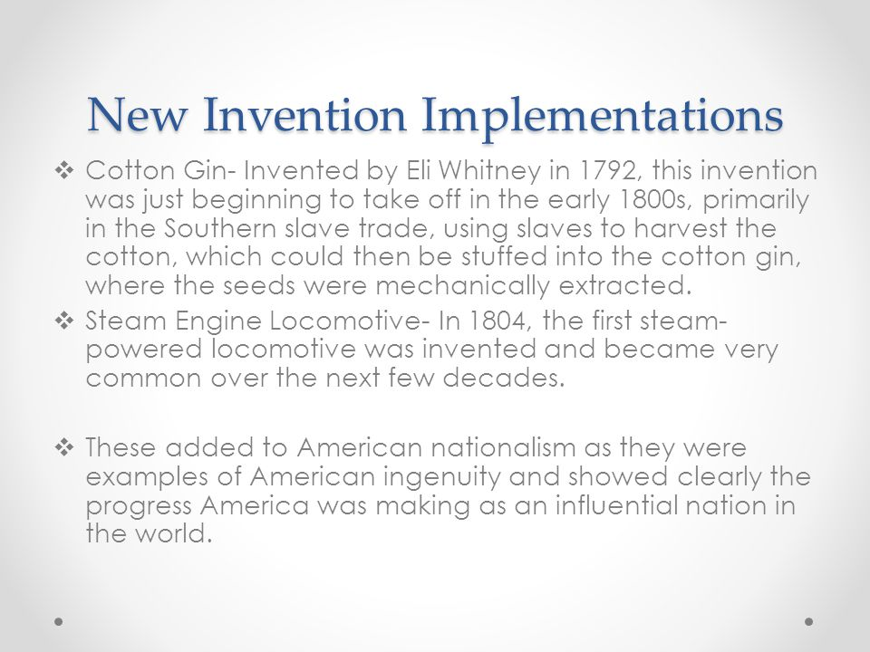 New Invention Implementations