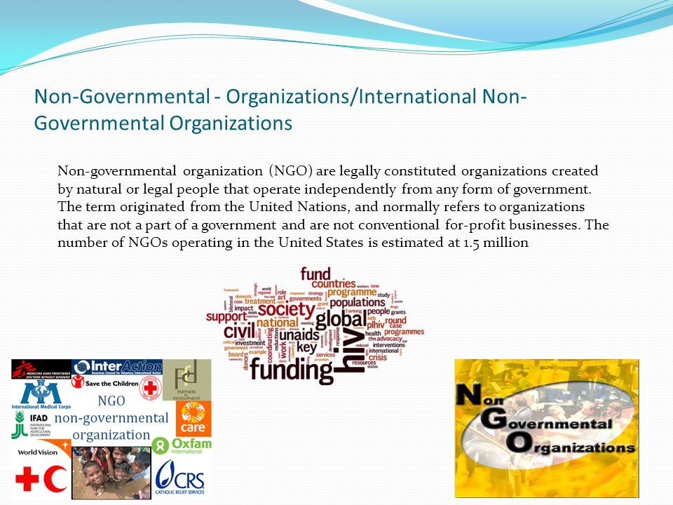 Non-Governmental - Organizations/International Non-Governmental Organizations