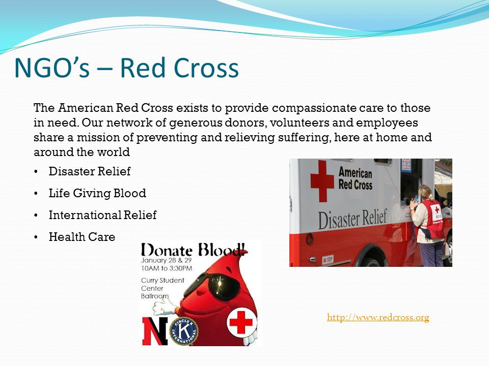 NGO's – Red Cross