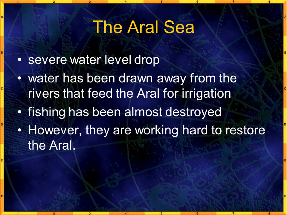 The Aral Sea severe water level drop
