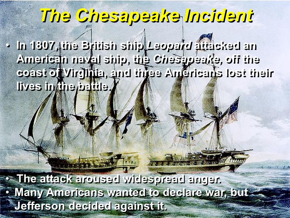 The Chesapeake Incident