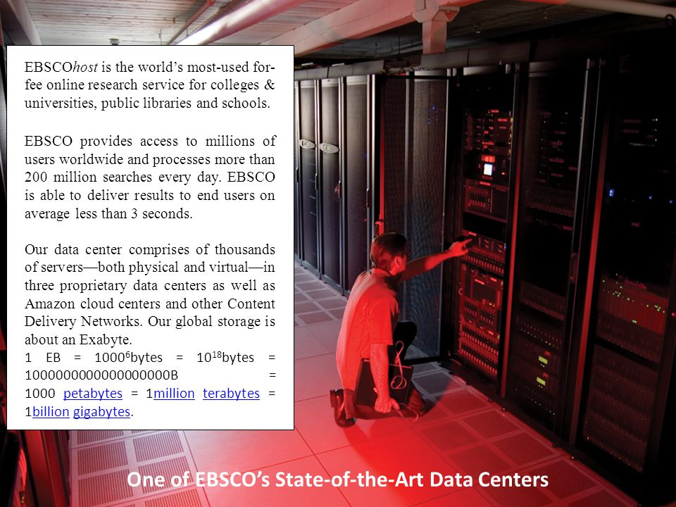 One of EBSCO's State-of-the-Art Data Centers