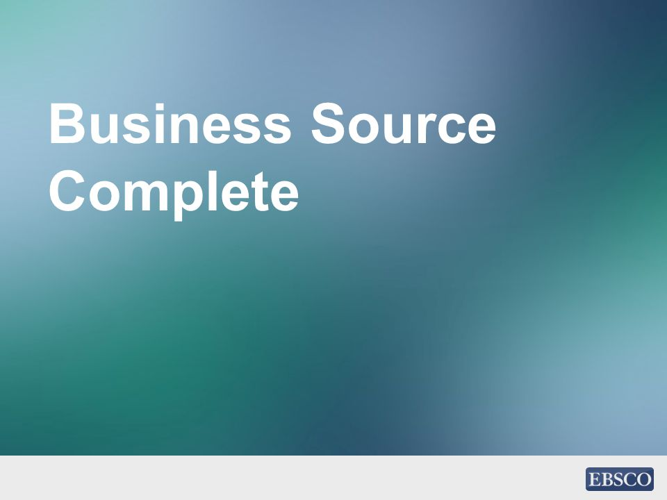 Business Source Complete