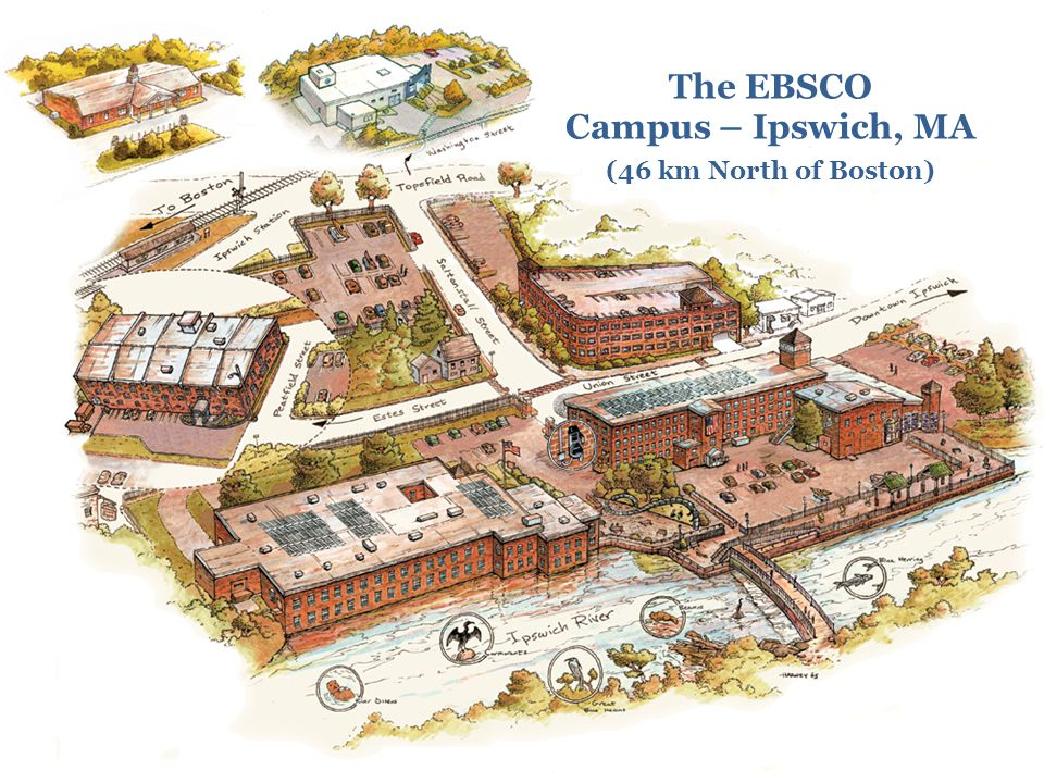 The EBSCO Campus – Ipswich, MA (46 km North of Boston)