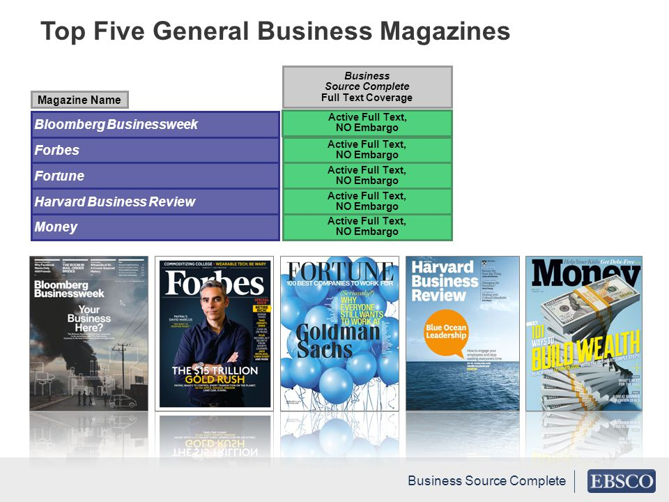 Top Five General Business Magazines