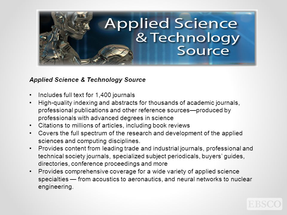 Applied Science & Technology Source