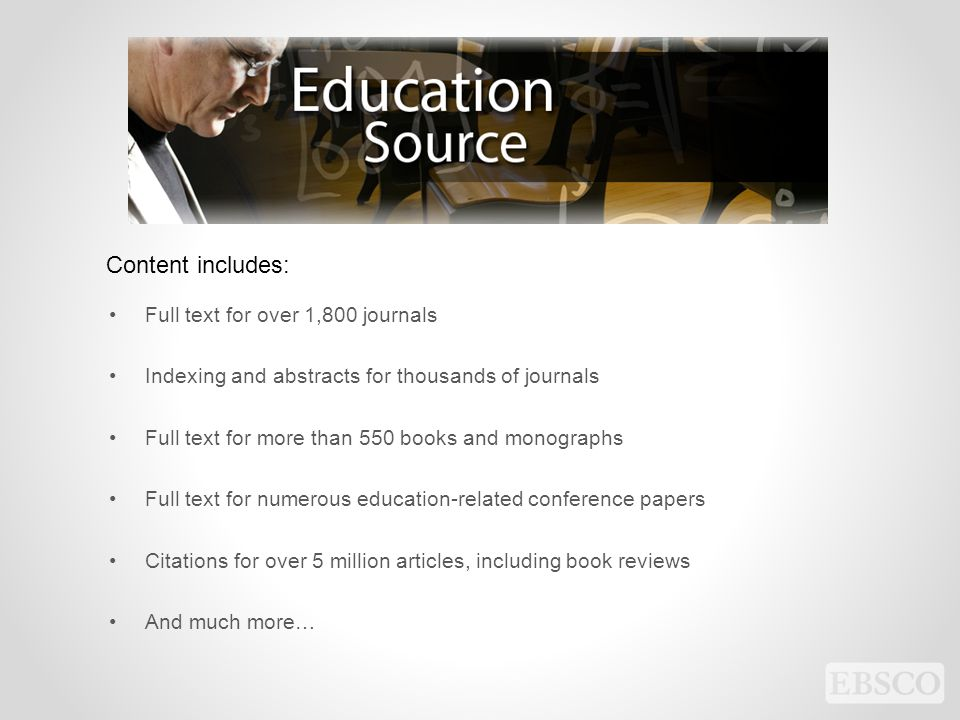 Content includes: Full text for over 1,800 journals