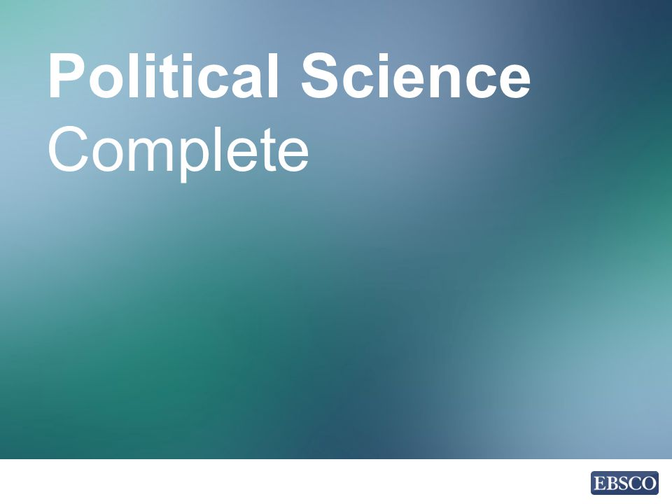 Political Science Complete