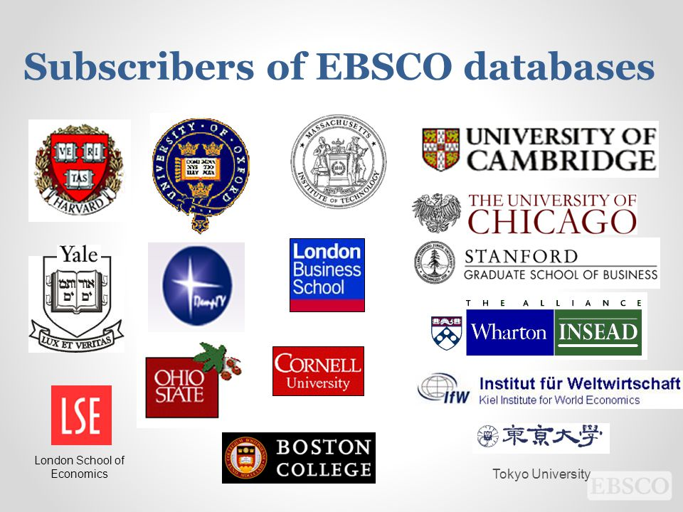 Subscribers of EBSCO databases