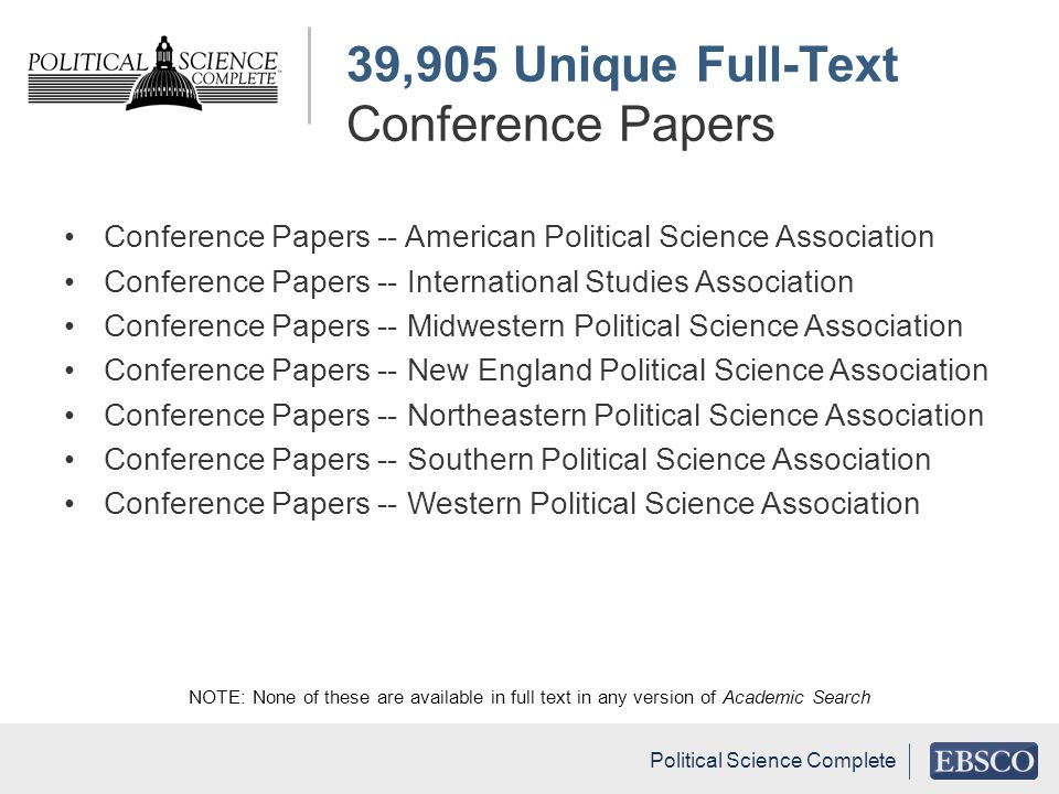 39,905 Unique Full-Text Conference Papers