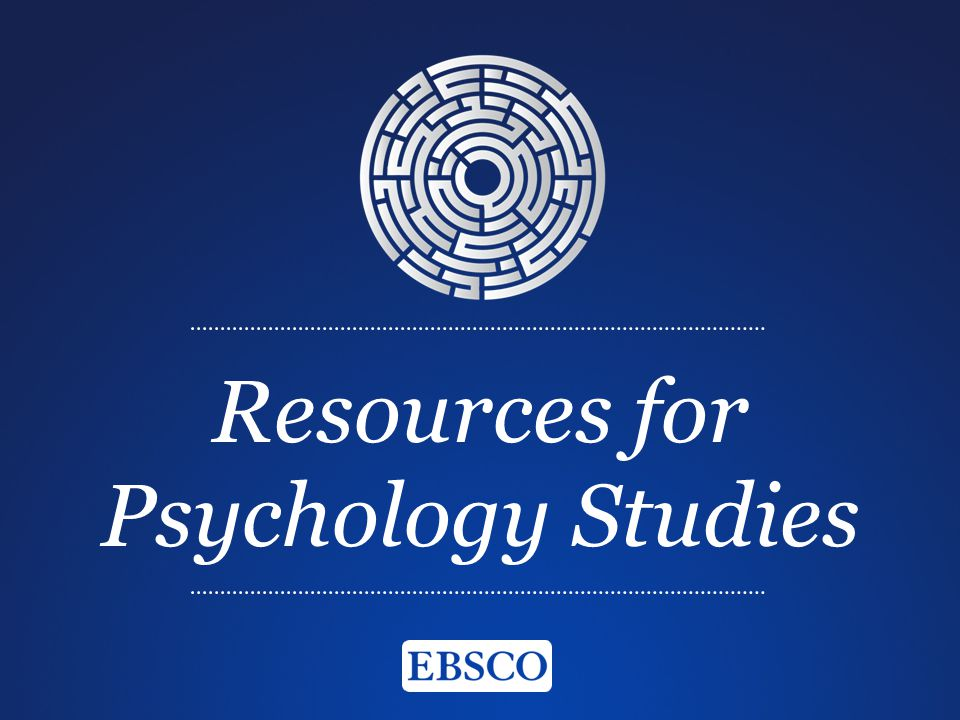 Resources for Psychology Studies