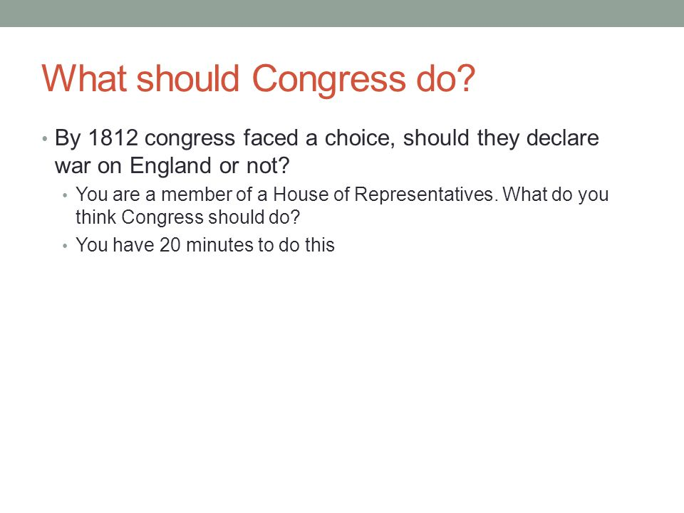 What should Congress do