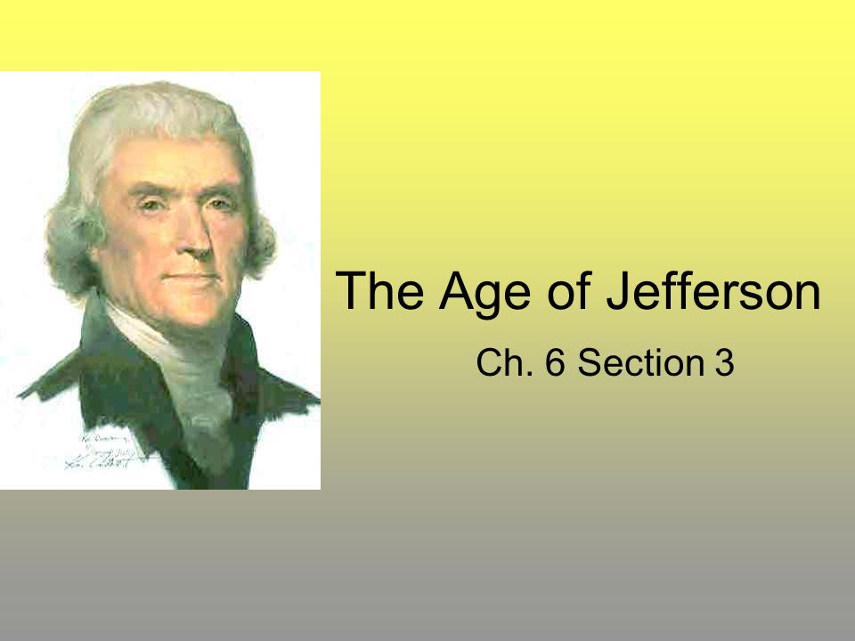 The Age of Jefferson Ch. 6 Section 3