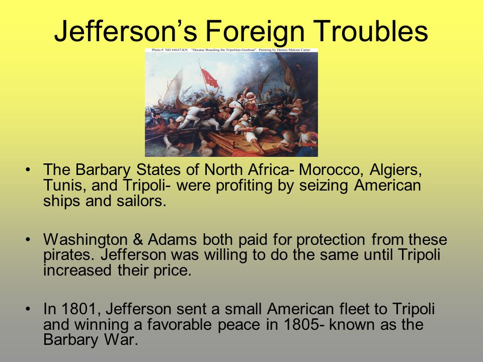 Jefferson's Foreign Troubles