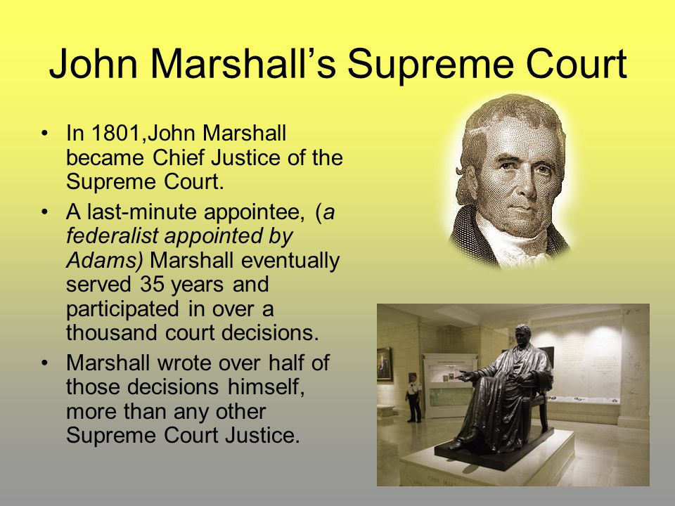 John Marshall's Supreme Court
