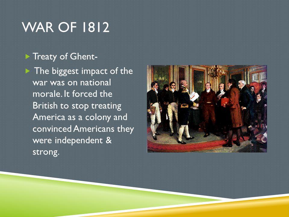 War of 1812 Treaty of Ghent-