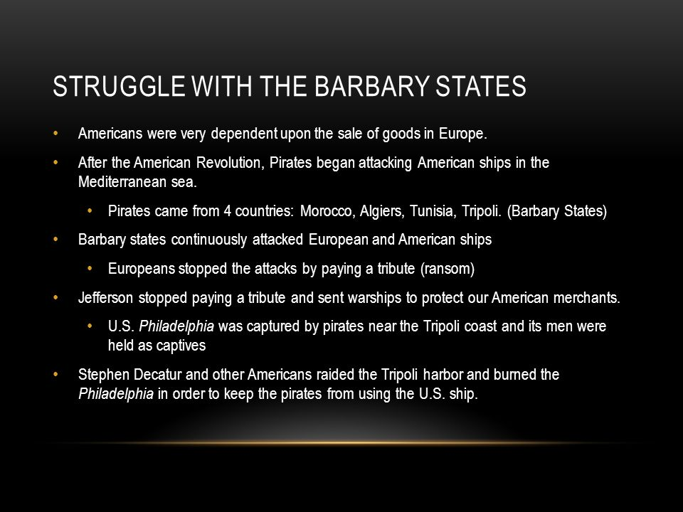 Struggle with the Barbary States