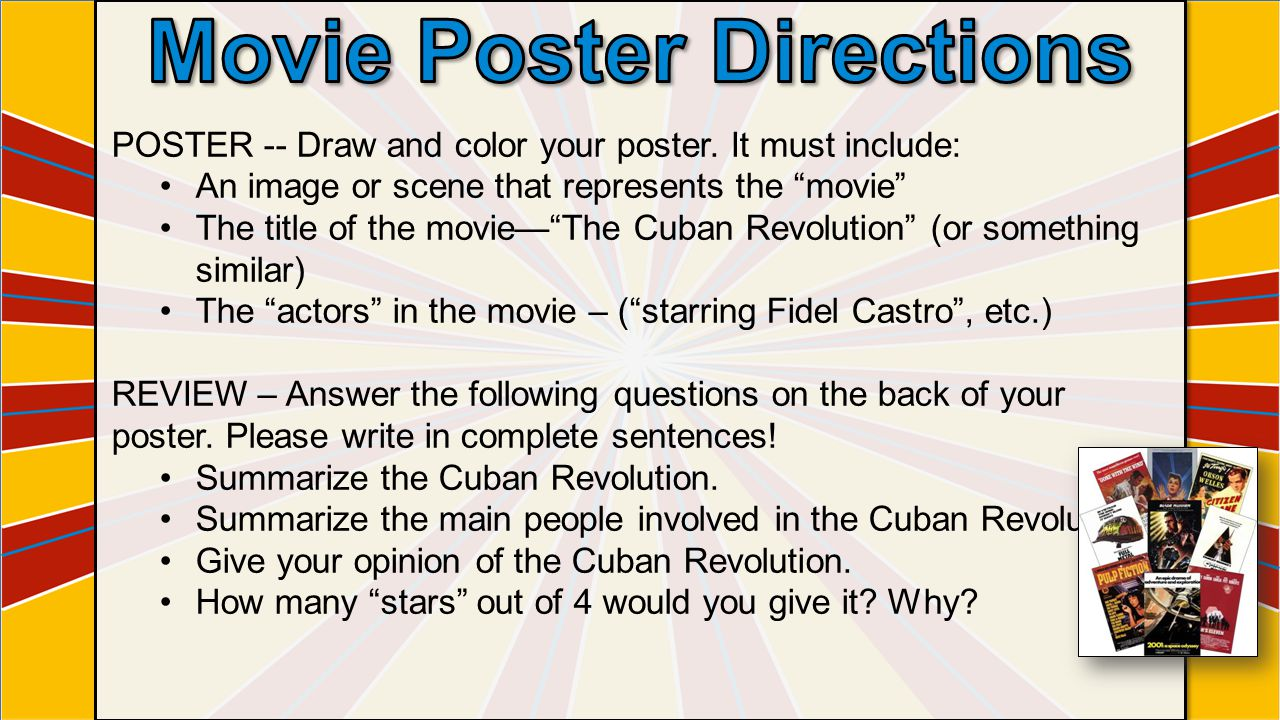 Movie Poster Directions