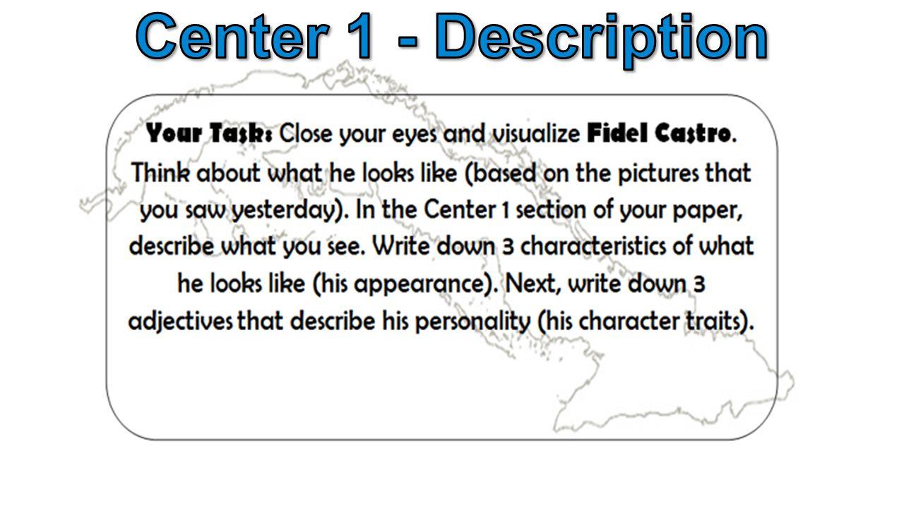 Center 1 - Description