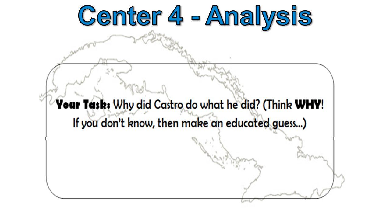 Center 4 - Analysis