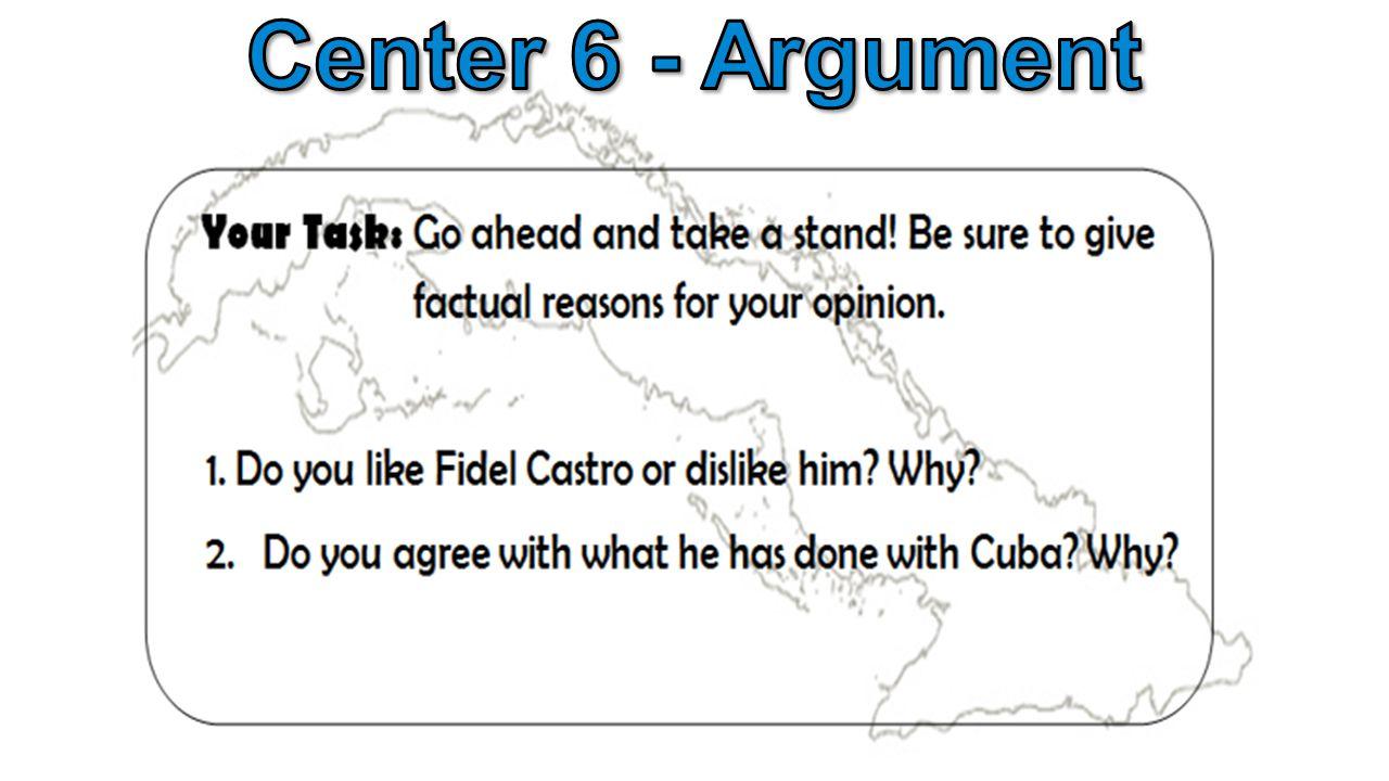 Center 6 - Argument