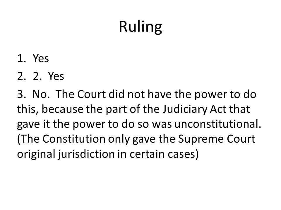 Ruling Yes. 2. Yes.