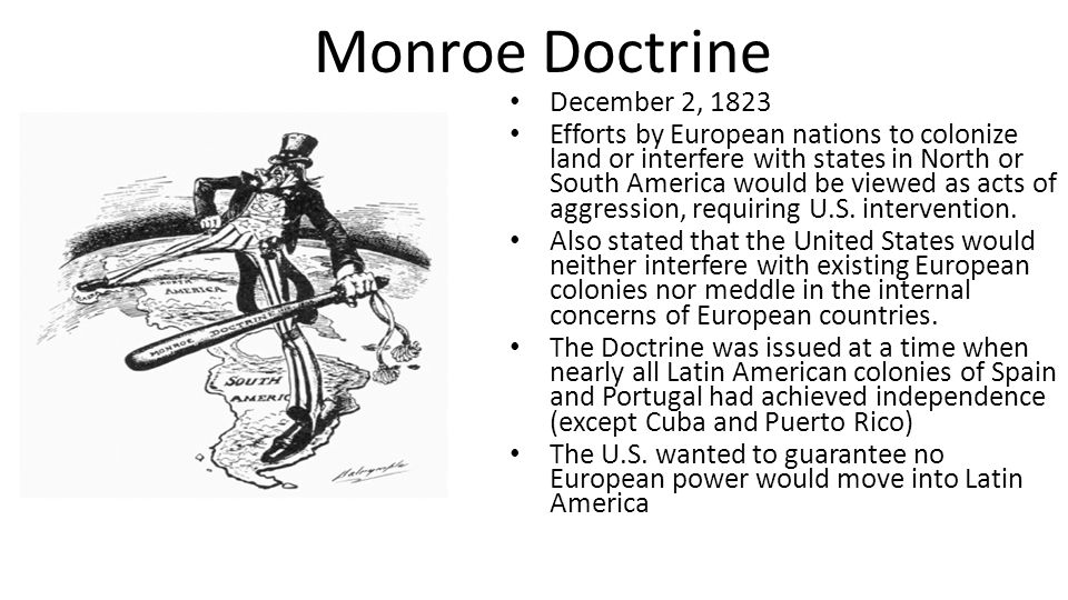 Monroe Doctrine December 2, 1823