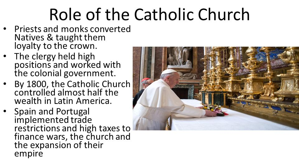 Role of the Catholic Church