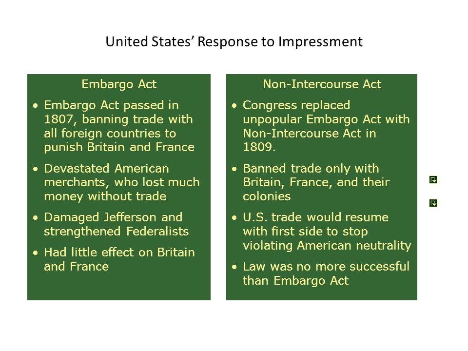 United States' Response to Impressment
